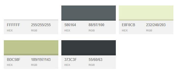 Цветовые схемы сайтов