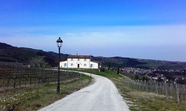 Borgo Condè.  Predappio, Forlì. Le villette storiche che stanno al centro della Tenuta. Foto Blog Etesiaca.