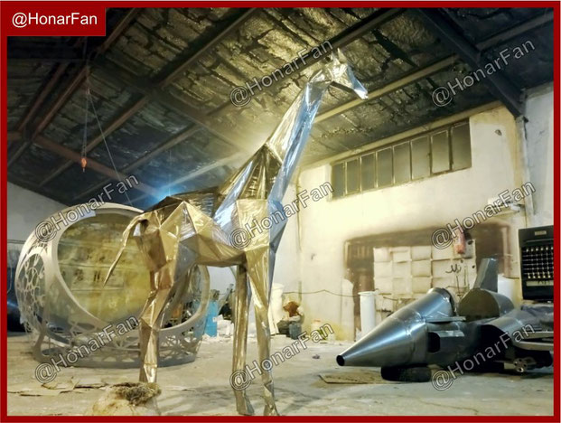 کارگاه مجسمه سازی حیوانات مجسمه مدرن خانگی و شهری بهترین