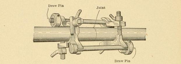 Spannvorrichtung für das Pressschweißen von Rohren mit Thermit