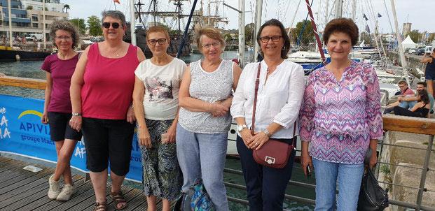 D. Grévir, N. Lédé, B. Jeanne, H. Favalessa, C. Meurdra et E. Mary à la Rochelle