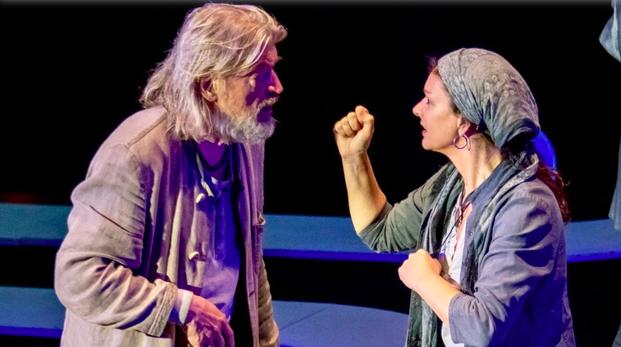 Szenenfoto Theater Molln 2019, W. Eduard Sageder u. Sonja Wurzer (c) Jack Haijes
