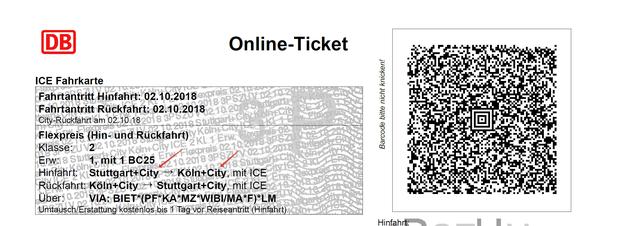 Билет Deutsche Bahn тоже может включать в себя городской билет, если на нём указана приставка +City. В таком случае вы можете проехать один раз от вокзала или к нему.