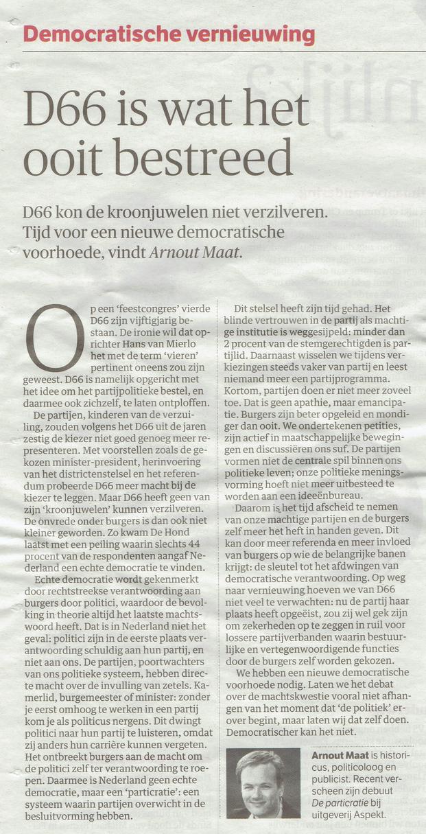 NRC Handelsblad 1 november 2016