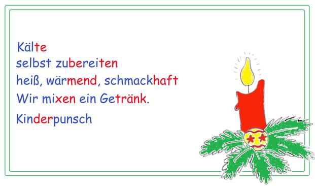 Winterelfchen, Elfchen Winter, winterliche Elfchen, Gedichtform Grundschule, Begriffe Weihnachten