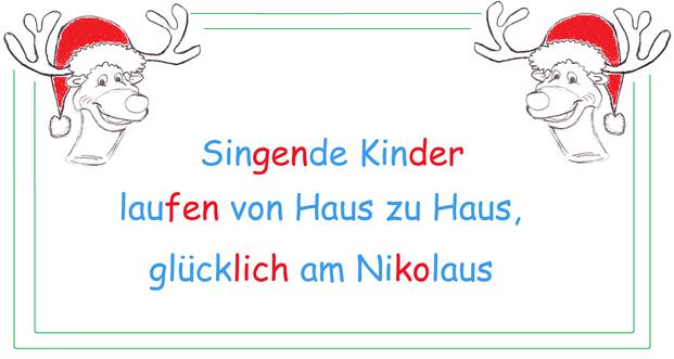 Haiku Nikolaus, Haiku Textvorlage, Kopiervorlage Haiku Weihnachten, Weihnachtswörter