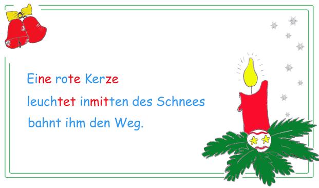 weihnachtliches Haiku, weihanchtliche Kopiervorlage, Weihnachtswörter üben, Begriffe Weihnachten, Begriffe Adventn