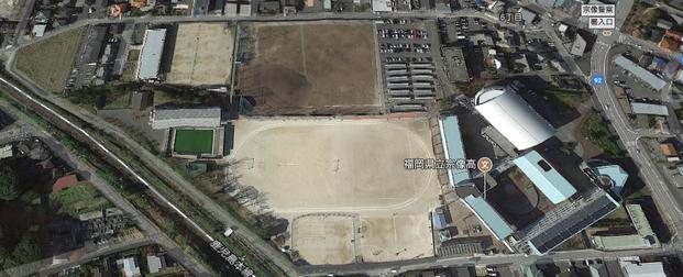 宗像高校 新世代校舎の航空写真