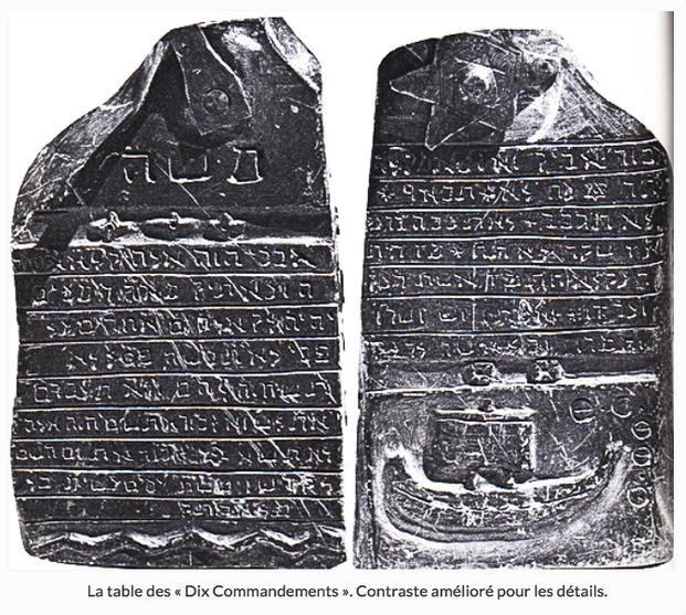 table des dix commandements