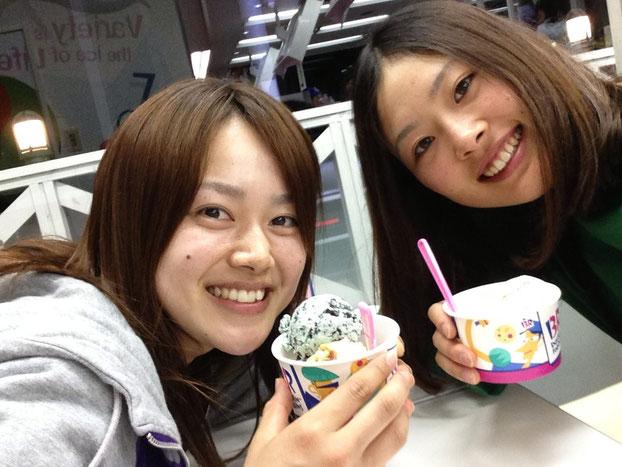 (左)海野マネ(右)大沼サポートスタッフ