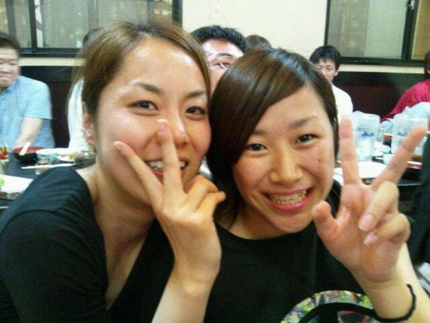 (左)中川選手(右)高田選手