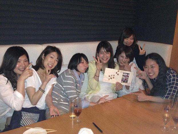 (左から4番目)大庭選手とお友達
