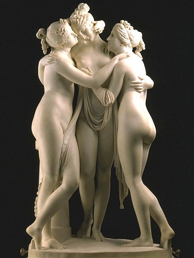 nouveau sculpteur sculpture classique antonio canova les 3 graces