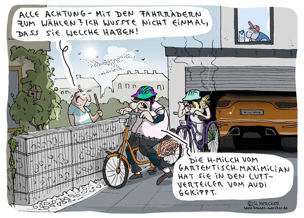 Cartoon von H. Mercker zur Bundestagswahl 2021