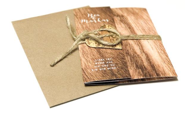 Hochzeitseinladung als Pocketfold