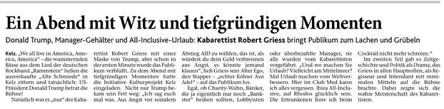 Artikel Dürener Zeitung vom 20.04.2018