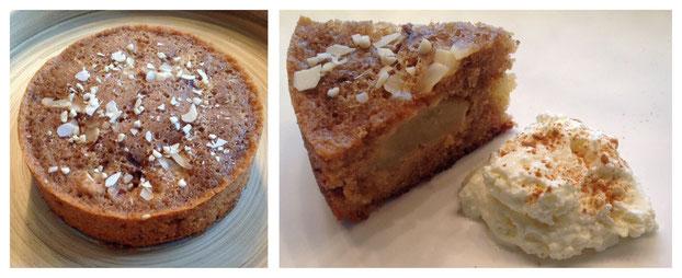 Appel-kaneelcake met amandelspijs.