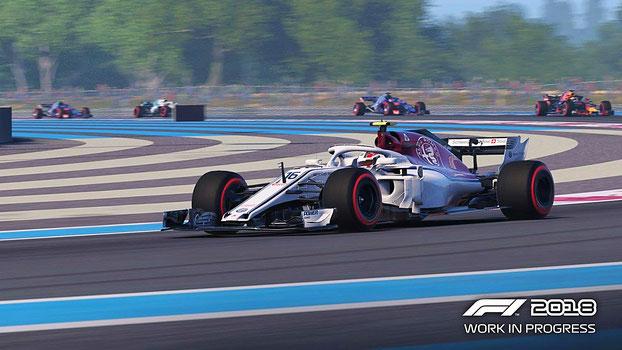 F1 2018 - Rennstrecke mit Formel 1-Autos