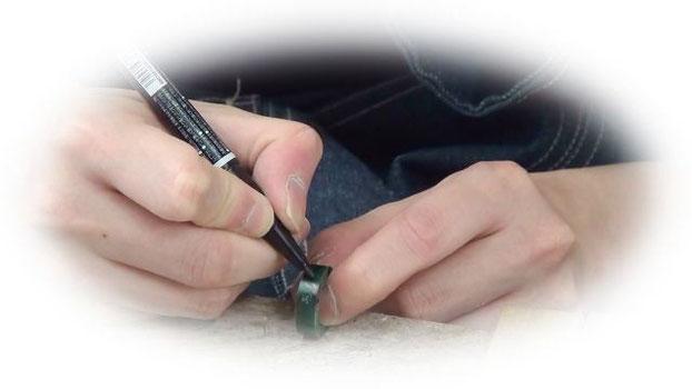 婚約指輪の下書き