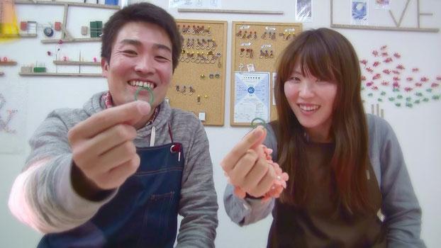 ワックスで結婚指輪の原型を作る