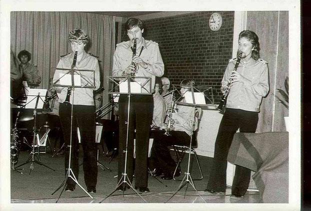 """1977: Birgit Kreipe, Reiner Komoletz und Walter Hölscher beim """"Klarinettenmuckl"""""""
