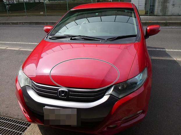 Honda・インサイト・ボンネット塗装 0004
