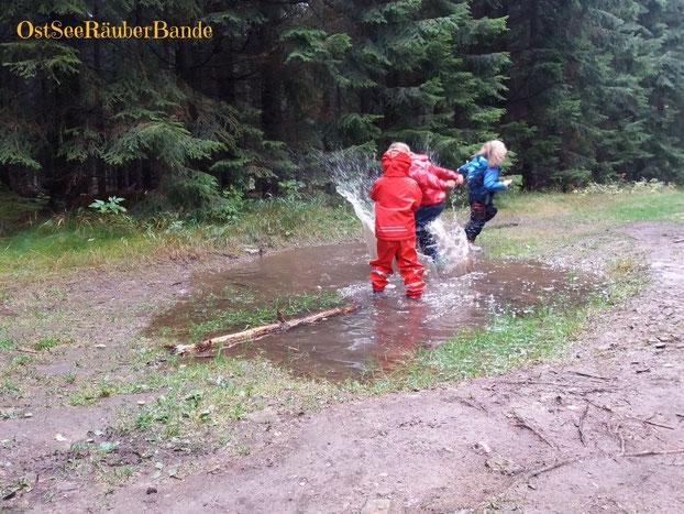 Viel Regen heißt viel Wasser überall :-)