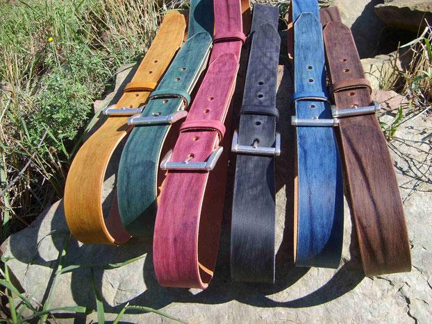 cinture in cuoio artigianali