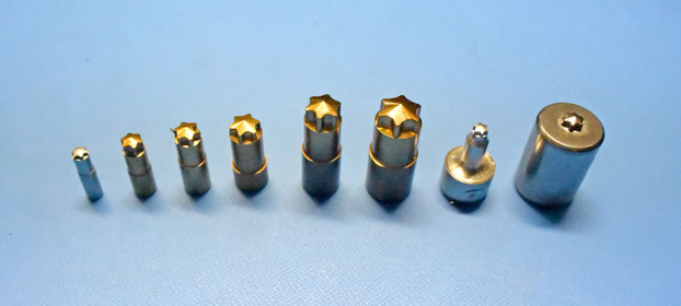 Punches for Torx sockets
