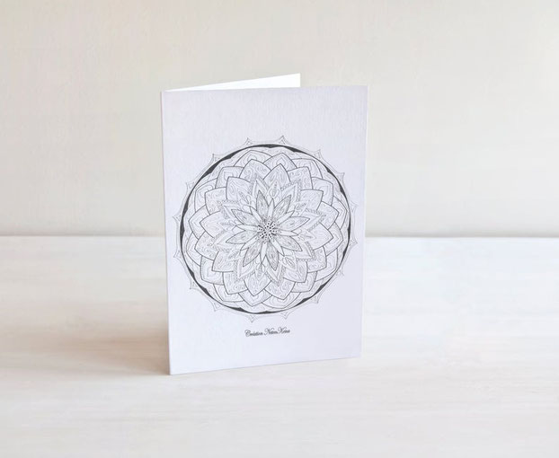 Etsy Qc, on a testé, Neten Kena, Mandala, carte de souhaits