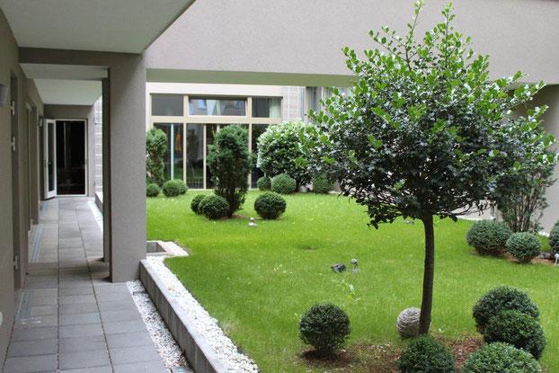 Dachbegrünung auf Tiefgarage Hotel Wien