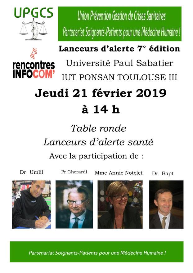 INFOCOM TOULOUSE - 7ème édition - Lanceurs d'alerte avec UPGCS