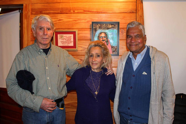 May 2015 - Meher Center, Sth.Carolina . Terry with husband Robert and Shridhar Kelkar.