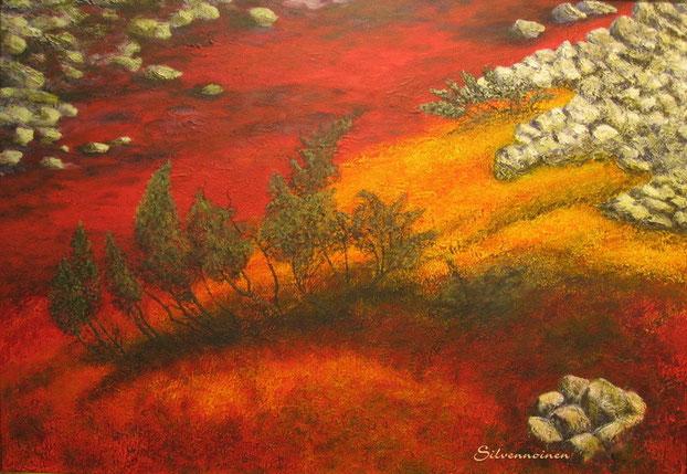 Acryl- Ölmalerei auf Struktur 70 x 100 Baumwollkeilrahmen