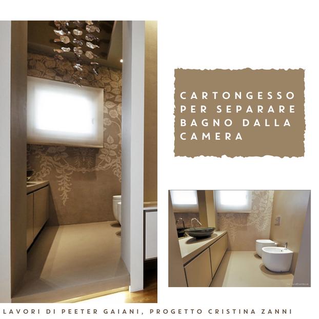 cartongesso per separare bagno dalla camera