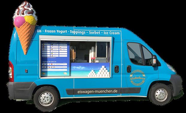 Eiswagen München buchen ; Eismobil München buchen ; Mobiler Eistruck ; Foodtruck München ; Firmenevent München ; Firmenfeier München ; Hochzeit ; Frozen Yogurt München, Eistruck, Eismobil, Eiswagen, Foodtruck, Eismobil Hochzeit