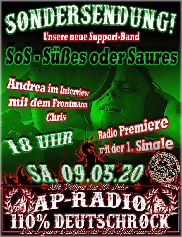 SoS - Süßes oder Saures bei AP-Radio 110% Deutschrock