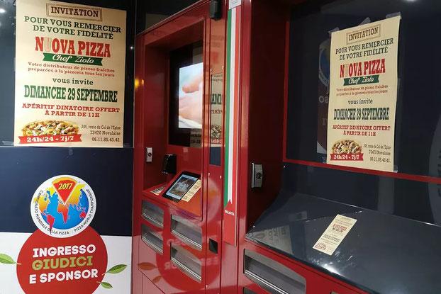 distributeur de pizza pendant le covid