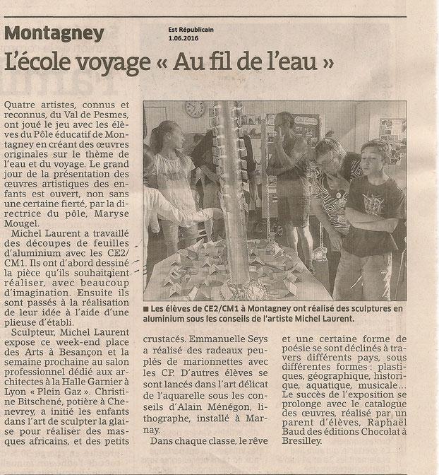 Sculpture sur métal avec les élèves de l'école de Montagney (Haute-Saône) © Michel LAURENT (MichL)