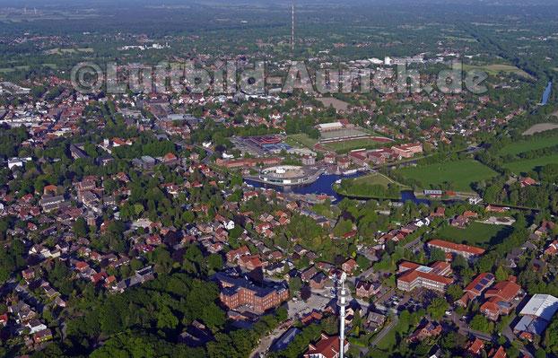 Aurich vom Haxtumer Telekom-Turm bis zum Popenser Fernsehturm