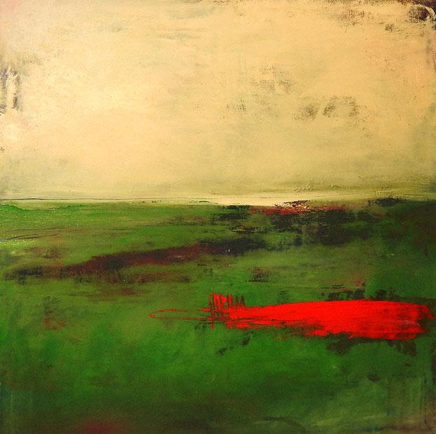 Abstraktes Bild grün gemälde