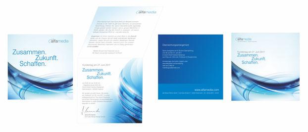 Messestand Einladungskarte CI Logoentwicklung Geschäftspapierausstattung Gestaltung Rödermark Onlinedesign On Line Design Grafik