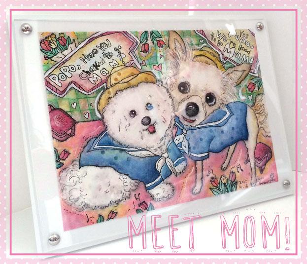 商品写真:「ママに会いにいくよ!」二匹のポポちゃん