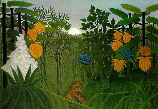 アンリ・ルソー「ライオンの食事」(1907年)