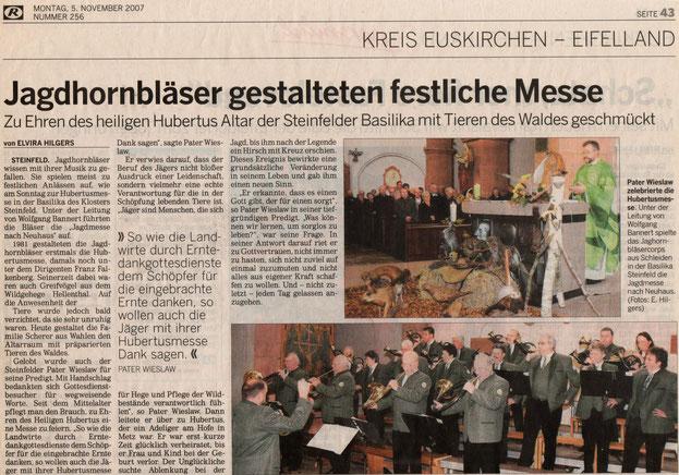 Kölnische Rundschau v. 05.11.2007