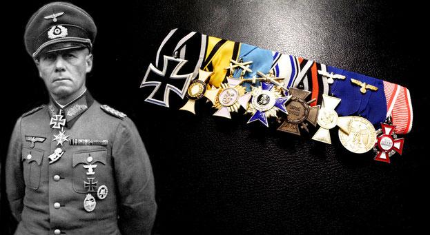 Replikat der Ordensspange von Generalfeldmarschall Erwin Rommel