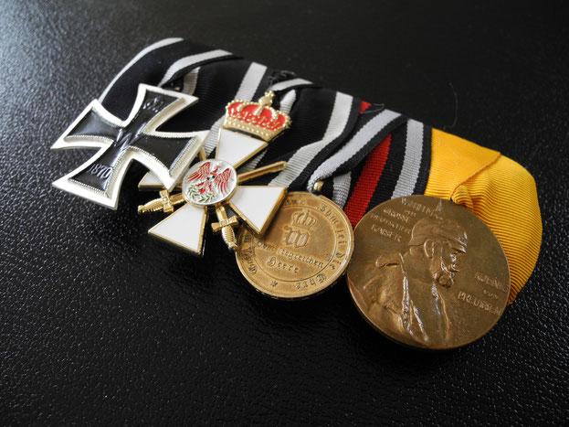 Preußen Große Ordensspange Ordensschnalle Eisernes Kreuz 1870 Roter Adlerorden Krone Schwerter Kriegsdenkmünze Replik