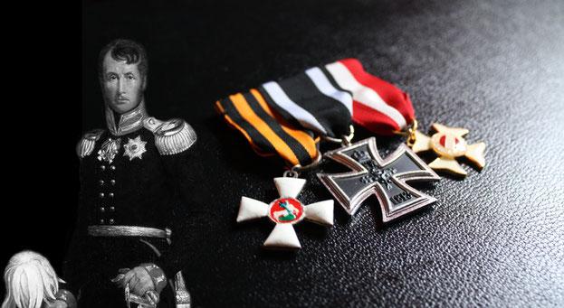 Replikat der Ordensspange von König Friedrich Wilhelm III. von Preußen