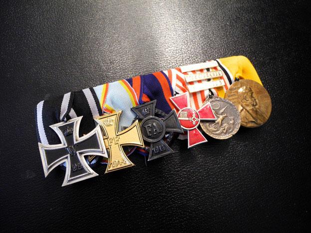 WWI Große Ordensspange Eisernes Kreuz Friedrich-August-Kreuz Hanseatenkreuz Bremen China-Denkmünze Replik