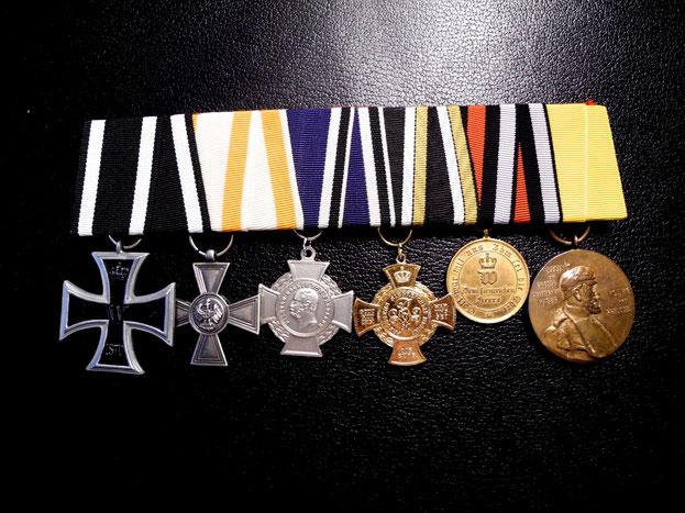 Ordensspange Preußen Eisernes Kreuz 1870 Roter Adlerorden IV. Klasse Alsenkreuz Kriegsdenkmünze 1866 1870 Replik